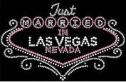Just Married in Vegas Rhinestone Iron on Transfer