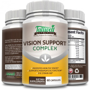 Maximum Vision Support Complex - Optimal Eye Health W/Quercetin, Lutein, & Lycopene. Provides 9 Key Nutrients. By Tallwell Nutrition