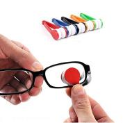 Saitec ® Pack of 5ps Mini Glasses Sunglasses Eyeglass Microfiber Spectacles Cleaner Brush Cleaning Tool,Random Colour