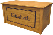 Wood Toy Box, Large Oak Toy Chest, Personalised Shadow Font, Custom Options
