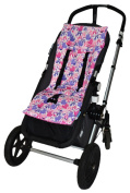 Tivoli Couture Nu Comfort Memory Foam Stroller Pad and Seat Liner, Pink Castles