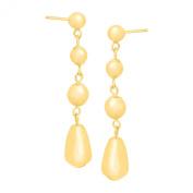 Just Gold Graduated Teardrop Drop Earrings in 14K Gold