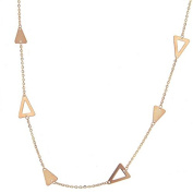 Triangle and Cable Link Chain Necklace
