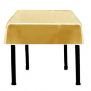 Square Satin Tablecloth 110cm x 110cm (GOLD) By Runner Linens Factory