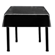 Square Satin Tablecloth 110cm x 110cm (BLACK) By Runner Linens Factory