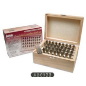 Beadsmith 36-Piece Letter and Number Punch Set for Stamping Metal, 1.5mm