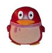 Penguin Purse - Girls Wallet - Penguin Gifts - Red Penguin Coin Purse