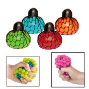 Toy Cubby's Puffy Mesh Squishy Fun Colourful Ball, 12 pcs