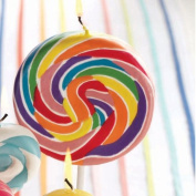 Tag Colourful Party Swirl Lollipop Candles - Large