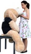 Big Plush Giant Stuffed Cream Happy Graduation Puppy Dog, 1.5m