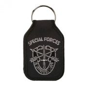Embroidered Army Key Chains - Black W01S42A