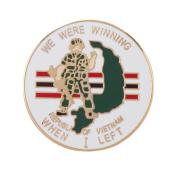 Cloisonne Enamel Military Pins - Rep Veteran W04S70B