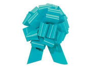 Pull String Bows 14cm Turquoise Blue - 20 Loops Pkg/50