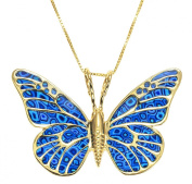Butterfly Necklace - 24K Gold Plated Silver Handmade Polymer Clay Jewellery