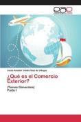 Que Es El Comercio Exterior? [Spanish]