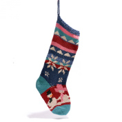 Snowmen Christmas Stocking in Organic Cotton