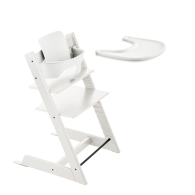 Stokke TRIPP TRAPP with Baby Set and Tray - White