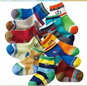 12 Pairs Anti-slip Assorted Kids Baby Socks with Anti-skid Particles Anti-skid Kids Socks Size Ages 1-3 Years 2t 3t Toddler English Letter