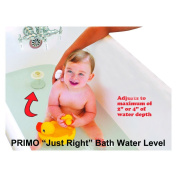 Primo Just Right Bath Water Level, White
