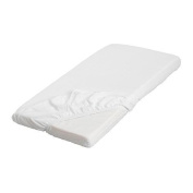 IKEA LEN Fitted Sheet in White 70 x 160 cm), white, 160x70