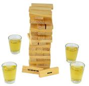 Fairly Odd Novelties Dunken Blocks Shot Glass, Brown