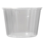 Fabri-Kal Microwavable Deli Containers, 470ml, Clear - Includes 500 containers.