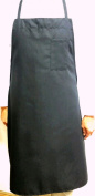 Oversized Black Bib Apron with Pensile Pocket