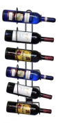 Sorbus® Wall Mount Wine Rack - Holds 6 Bottles of Wine or Champagne