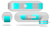 Psycho Stripes Neon Teal and Grey Decal Style Skin - fits Beats Pill Plus