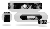 Skulls Confetti White Decal Style Skin - fits Beats Pill Plus