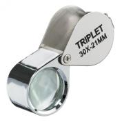 MEDca Magnifier Loupe - 30x 21mm Triplet Folding Magnifier Lens
