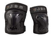 JBM® Protective Gear Knee and Elbow Pads Support Guards for Multiple Sports Protection Safety Gear Equipment - Skate & Skateboarding, BMX Biking, Rollerblade, Scooter, Cycling