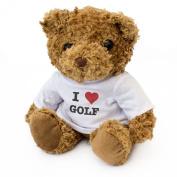 NEW - I LOVE GOLF - Teddy Bear - Cute And Cuddly - Gift Present Birthday Xmas