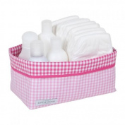 Little Dutch 6013 Changing Table Basket Pink Vichy Cheque Large