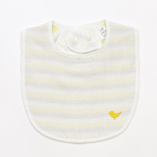 Iori Baby Stripe Drool Bib - Yellow