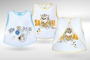 BABY BIB Akuku Waterproof Wipe Clean Baby Blue or Pink Feeding Bib A0185
