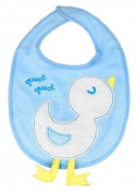 BABY BIB Akuku Velcro Fasten Soft Terry Squeky Bib Baby Feeding Bib A0180