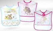 BABY BIB Akuku A0182 Waterproof Wipe Clean Baby Blue or Pink Feeding Bib