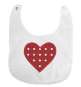 Valentine Red Hot Pink Heart White Love Baby Clothing Lace Feeding Bib