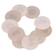 BQLZR Stain Self Adhesive Breast Nipple Covers Sticker Satin Round Bra Pad Patch Pack of 10