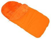 UNIVERSAL FOOTMUFF Baby Cosy Toes Fit All Pushchair Buggy Car Seat PLAIN COLOUR _ORANGE
