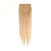 Clip In Hair | Human Hair Extensions | Full Head | 46cm Blond Blend Col