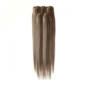 Clip In Hair | Human Hair Extensions | Full Head | 46cm Saturn Mix Col