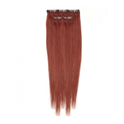 Clip In Hair | Human Hair Extensions | Full Head | 46cm Spiced Auburn