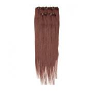 Clip In Hair | Human Hair Extensions | Full Head | 46cm Fiery Brown