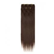 Clip In Hair | Human Hair Extensions | Full Head | 46cm Barely Black