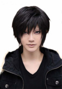 Etruke Short Izaya Orihara Durarara Anime Black Cosplay Wigs