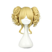 Etruke Hair Harajuku Girl's Lolita Party Cruly Clips 2 Ponytails Cosplay Wigs