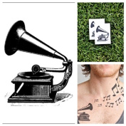 Tattify Record Player Temporary Tattoo - Old's Cool