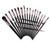 Chnli 20pcs Makeup Brushes Sponge Kit Set Powder Foundation Eyeshadow Eyeliner Lip Brush Tool